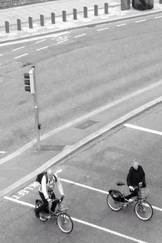 From my window I saw this old couples cycling around Dublin. I love it.