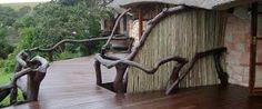 rustic bush lodges - Google Search Lodges, Garden Bridge, Outdoor Structures, Rustic, Google Search, Country Primitive, Cabins, Retro, Farmhouse Style