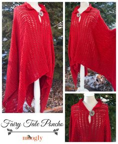 Fairy Tale Poncho  Free crochet pattern in sizes Small to 5x! http://www.bloglovin.com/viewer?post=2080467251group=0frame_type=ablog=3358129frame=1click=0user=0