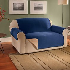 Innovative Textile Solutions Fleece Waterproof Reversible XL Sofa Protector for sale online Armchair Slipcover, Loveseat Slipcovers, Cushions On Sofa, Furniture Covers, Sofa Furniture, Sofa Protector, Box Cushion, Couch Covers, Cover