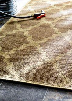 Outdoor Moroccan Trellis Taupe Rug | Contemporary Rugs #RugsUSA
