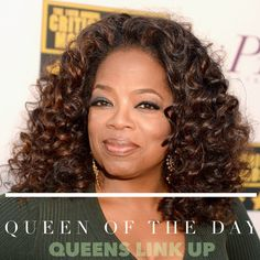 Queen of the Day: Oprah Winfrey!  Icon. Mentor. Producer. Actress. Black female billionaire. Philanthropist. Media proprietor.  These are some of the words to describe such a phenomenal woman.  www.queenslinkup.com  #QueenOfTheDay #QueensLinkUp #QueensDoItBetter #Motivation #Icon #Love #Queen #philanthropist #Mentor #BlackWomen #FemaleBusinessOwners #LiveLearnQueen