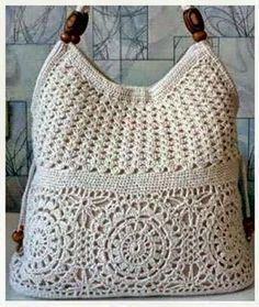 Beautiful crochet bag - Art in Crochet Crochet Crafts, Crochet Projects, Homemade Bags, Christmas Gift Bags, Crochet Purses, Beautiful Crochet, Crochet Clothes, Purses And Bags, Crochet Top