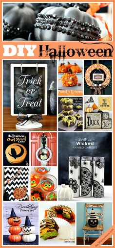 25 DIY Fantastic Halloween Crafts & Treats