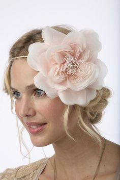 Kylie silk millinery bloom halo