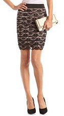 #Charlotte Russe          #Skirt                    #Tiered #Lace #Pencil #Skirt: #Charlotte #Russe     Tiered Lace Pencil Skirt: Charlotte Russe                                     http://www.seapai.com/product.aspx?PID=1088971