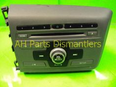 Used 2012 Honda Civic AM/FM/CD PLAYER  . Purchase from https://ahparts.com/buy-used/2012-Honda-Civic-AM-FM-CD-PLAYER/74590-1?utm_source=pinterest