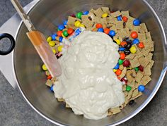 Cereal Drop Snack Mix ~ A Family Favorite! Easy and simple ingredients, whip up this family friendly, kid-approved snack in just a few minutes! Let set, break apart, and watch everyone devour!