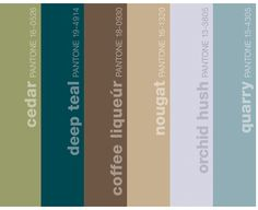 colors that go with espresso | A Color Specialist in Charlotte: Pantone's Deep Teal and ...