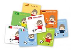 """étiquettes autocollantes personnalisées """"footballeur"""" Usb Flash Drive, Personalized Stickers, Sticky Labels, Objects, Kid, Usb Drive"""