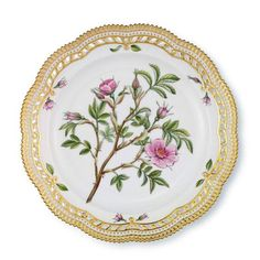 Plate with Lace Border