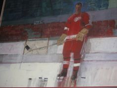 rejected cover art for Sports illustrated Gordie Howe-Detroit Red Wings Hockey March 3, 1964