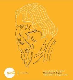Rabindranath Tagore! #remembrance #day #nationalanthem #polymaths #literature #writer #musician #legend #nobleprize #graphicdesign #Seriff