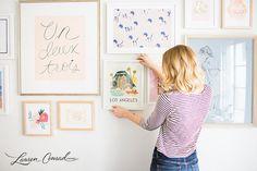 LaurenConrad.com's Gallery Wall