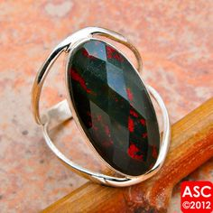 $13.00 Bloodstone Ring.  So beautiful. Size 8, please.