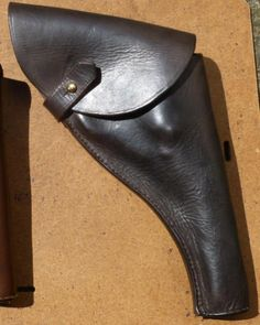 Flapped Sam Browne style leather holster for Webley MkVI Revolver. Webley Revolver, Custom Leather Holsters, Pistol Holster, Indiana Jones, Motorcycles, Cosplay, Hats, Accessories, Leather