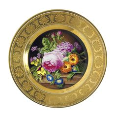 A Sèvres plate from the 'Service marli d'or' circa 1813-15.