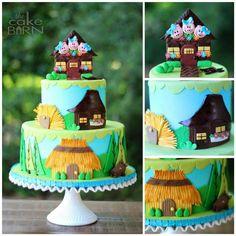 Three Little Pigs Birthday Cake