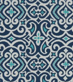 Home Decor Print Fabric- Robert Allen Baja Damask Marine & home decor fabric at Joann.com
