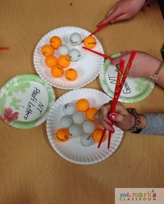 """Sorting NT Letters Bible Skill Game Prepare: Write the books of Paul's Letters and General Letters on ping pong balls. Write """"Paul's Letters"""" on one paper plate and """"General Letters"""" on a separate plate. Have drillers place ping pong balls on the correct plate."""
