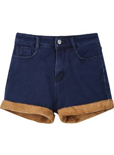 Shorts denim bolsillos-Azul EUR€17.24
