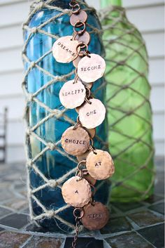 CUSTOM Hand Hammered and Stamped Penny Bracelet by artistrybyannie, $40.00