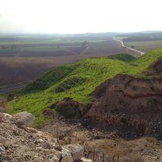 Valley of Jezreel- Armageddon---from Tel Megiddo- Israel