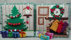 Great Christmas Book for Anna) Christmas Mood, Felt Christmas, Christmas Crafts, Felt Crafts, Diy And Crafts, Felt Doll House, Baby Quiet Book, Quiet Book Patterns, Felt Quiet Books