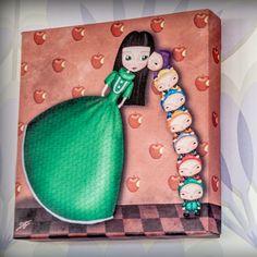 Mini lienzo 20x20cms HOY ME TOCA A MI http://es.dawanda.com/shop/porquesuenio