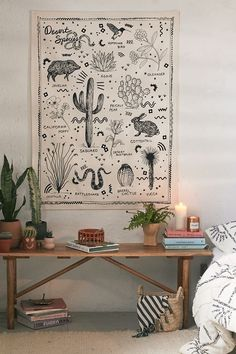 Check out Desert Species Reference Chart Tapestry from Urban OutfittersShop Desert Species Reference Chart Tapestry at Urban Outfitters today. We carry all the latest styles, colors and brands for you to choose from right here. Home Decor Accessories, Decorative Accessories, Portraits Illustrés, Living Room Decor, Bedroom Decor, Bedroom Ideas, Master Bedroom, Desert Life, Door Stickers