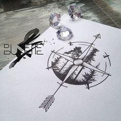 I like this idea for a compass tattoo! #FamilyTattooIdeas