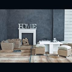 Cornice per camino decorativa bianca - Freeport