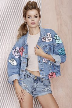 Nasty Gal x Peggy Noland Hand Painted Denim Jacket | Shop Clothes at Nasty Gal!
