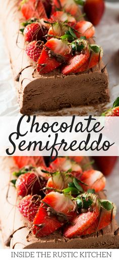 Irresistible Chocolate Semifreddo. A creamy, light and airy no churn ice cream with a rich chocolate flavour. An absolutely delicious Italian dessert that you've got to try! www.insidetherustickitchen.com #icecream #dessert #italianfood #chocolate