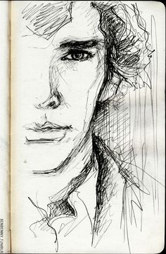 Sherlock FanArt I have always struggled with the pen, I admire those who draw with it... #ad