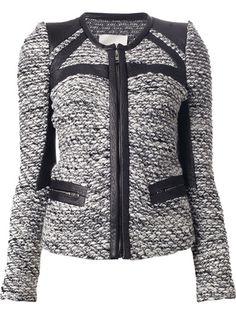 IRO - Izzy leather panel bouclé-knit jacket 6