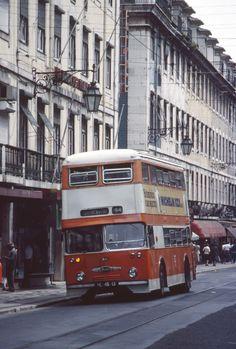 LISBON CCFL Carris Daimler Double Decker Bus, Lisbon Portugal, Public Transport, Historical Photos, Buses, Vintage Photos, Transportation, Old Things, Africa