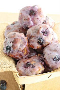 Baked Blueberry Fritter Bites