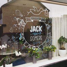 Voor de geboorte van mijn zoon Jack maakte ik deze raam tekening op onze voorraam #handlettering #chalkboard #lettering #typedaily #typespire #itsaboy | Flickr - Photo Sharing! Chalkboard Window, Chalkboard Baby, Window Markers, Stencils, Chalk Markers, Window Art, Black House, Newborn Photography, Diy Crafts