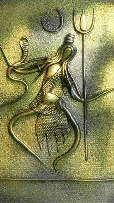 Shiva (New Tribal Art) - Wall Hanging - Resin Statues (Poly Resin on Hardboard) Mahakal Shiva, Shiva Art, Krishna Art, Hindu Art, Rudra Shiva, Shiva Statue, Hare Krishna, Clay Wall Art, Mural Wall Art