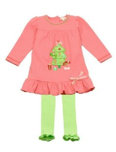 Buy Le Top All Wrapped Up Christmas Tree Dress for Little Girls, Modern Holiday Dress for Girls, Colorful Christmas Outfits for Little Girls, Holiday Dress and Tights Set and get free shipping from Best Dressed Tot