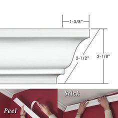 EZ A Peel ECM212 2.5 in. Easy Crown Molding - 12 ft. 6 in...