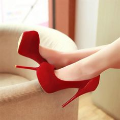 beautiful red high heels