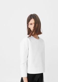 Blusa algodón sostenido   MANGO