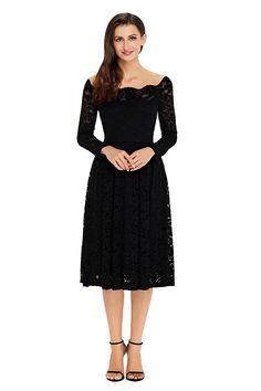 Annigo Womans Little Black Patry Wedding Bridesmaid Dressess fb00025de