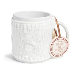 LAINE white earthenware mug   - Sold in sets of 4
