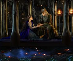 Thingol and Luthien by steamey on DeviantArt. Dang it, Beren! You just had to die and ruin everything, didn't you? xD