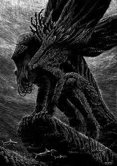 """Cthulhu"" by Salvador Sanz Dark Fantasy Art, Dark Art, Necronomicon Lovecraft, Inspiration Artistique, Lovecraftian Horror, Eldritch Horror, Horror Artwork, Evil Art, Arte Obscura"