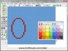 DesignaKnit 8 Stitch Designer Tutorial - Using The Top Menu Bar Icons