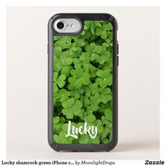 Lucky shamrock green iPhone case.